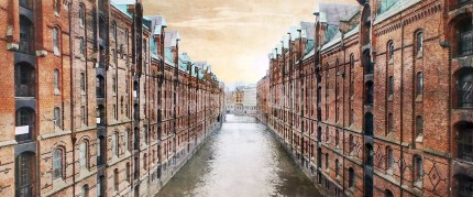 Hamburg Speicherstadt 23  –  120 x 50 cm