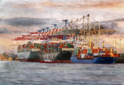 Hamburg Hafen 84  –  100 x 70 cm