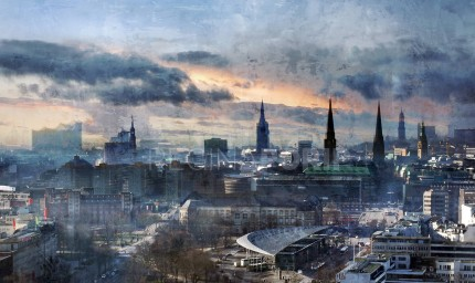 Hamburg Skyline 7  –  85 x 50 cm