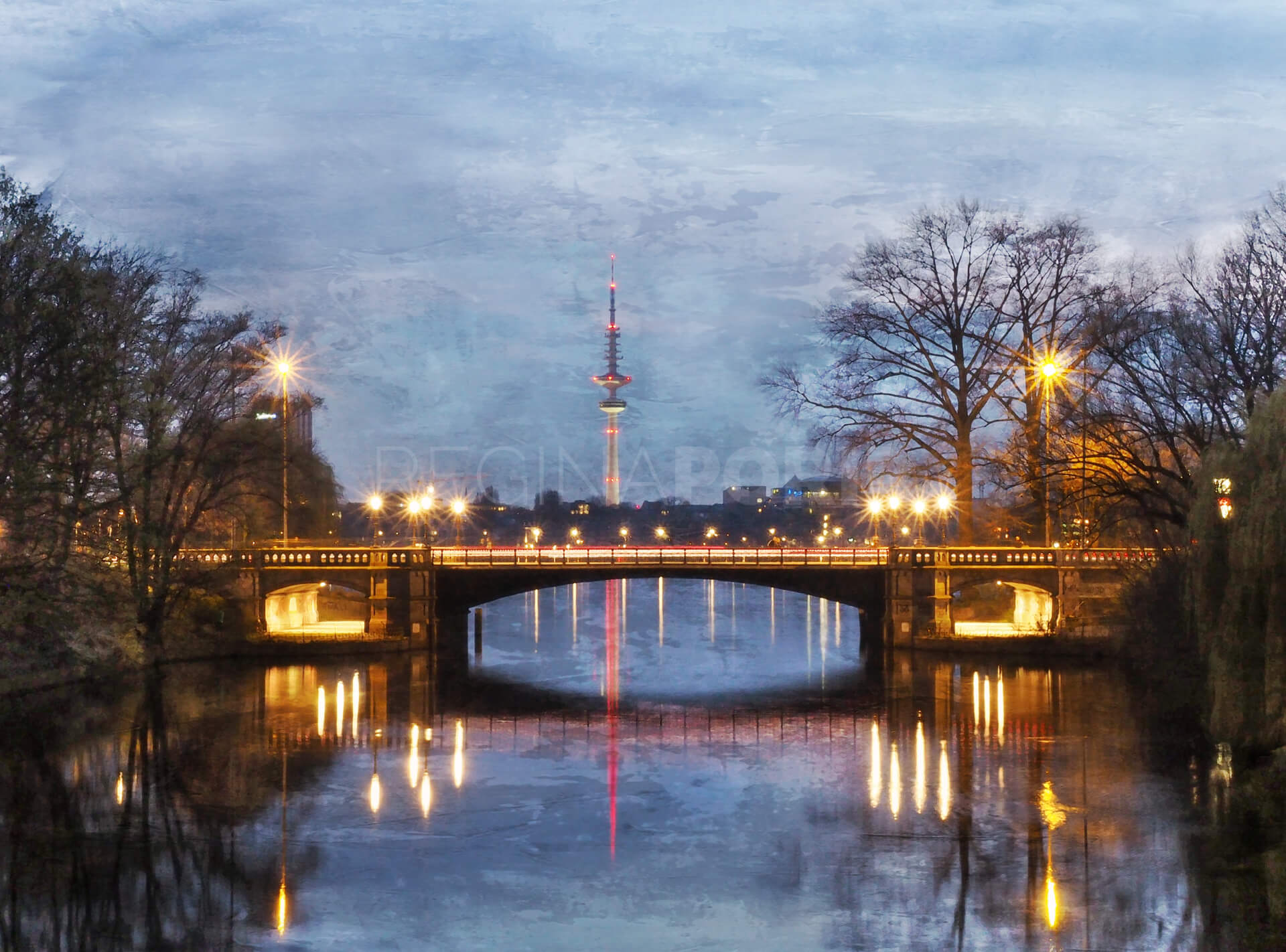 Hamburg Fernsehturm 4  –  60 x 45 cm