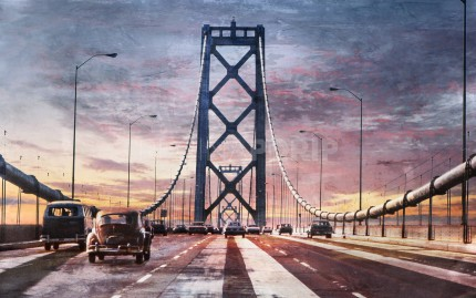 Kalifornien Bay Bridge 13  –  80 x 50 cm