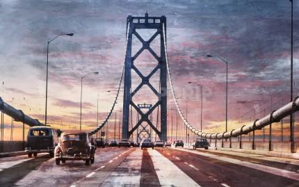 Kalifornien Bay Bridge 13  –  80 x 50 cm