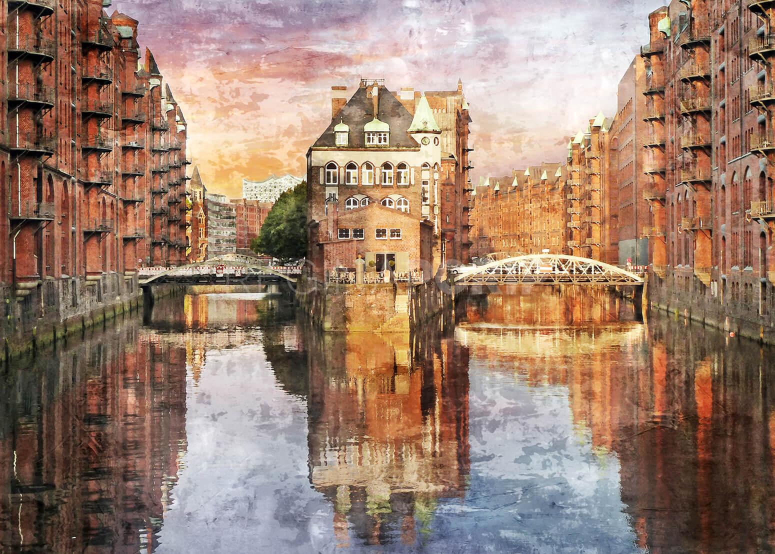 Hamburg Speicherstadt 24  –  60 x 43 cm