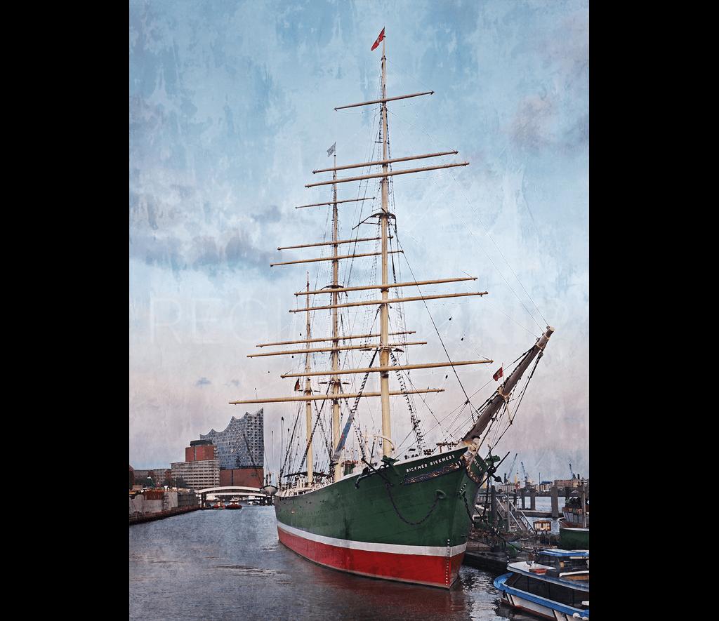 Hamburg Hafen 86  –  70 x 95 cm
