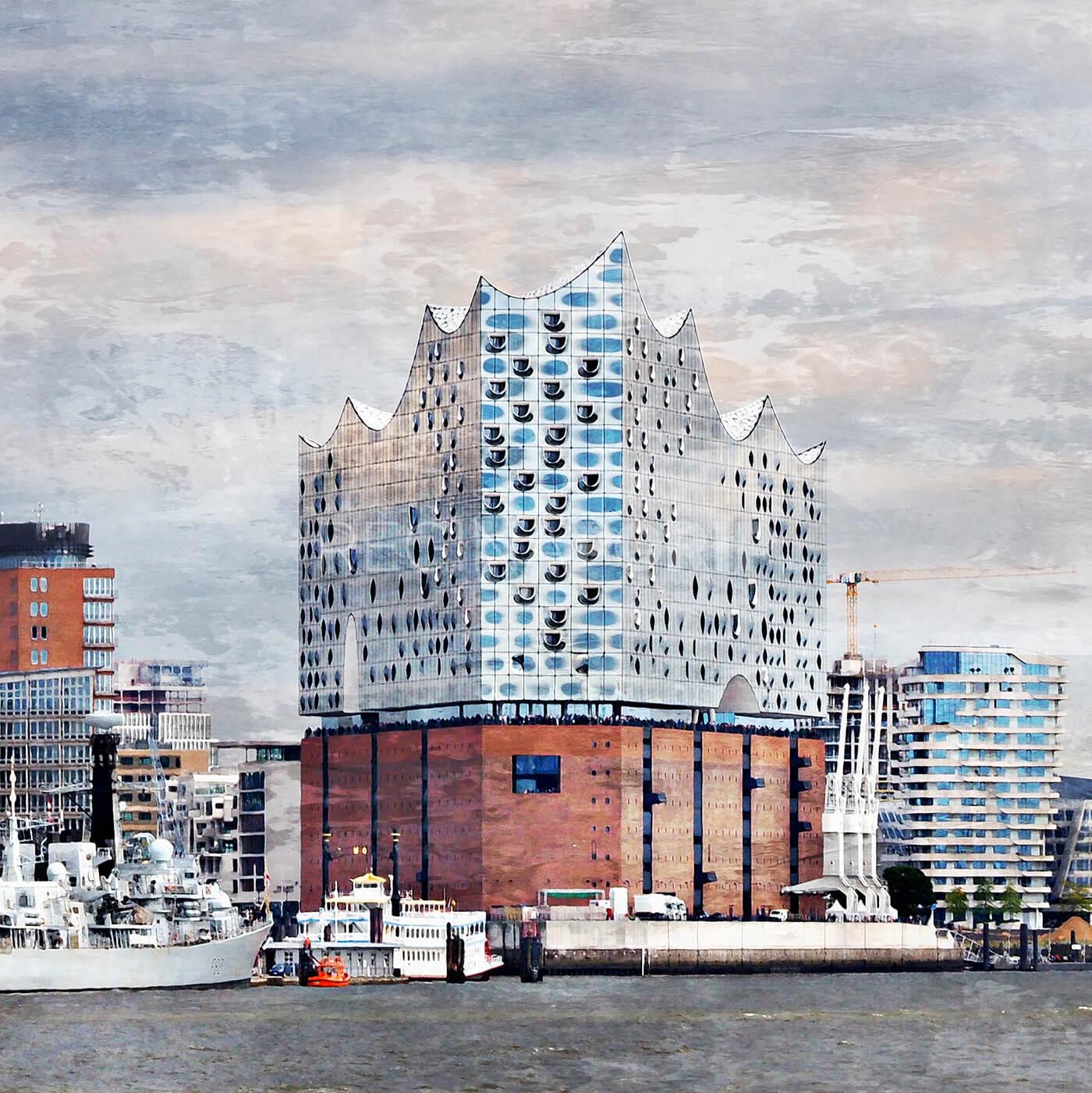 Hamburg Hafen 85  –  80 x 80 cm