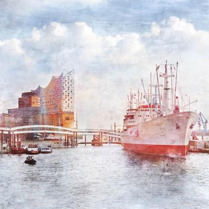 Hamburg Hafen 87  –  80 x 80 cm