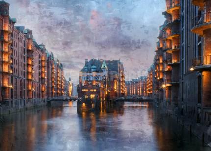 Hamburg – Speicherstadt 25 – 120 x 80 cm