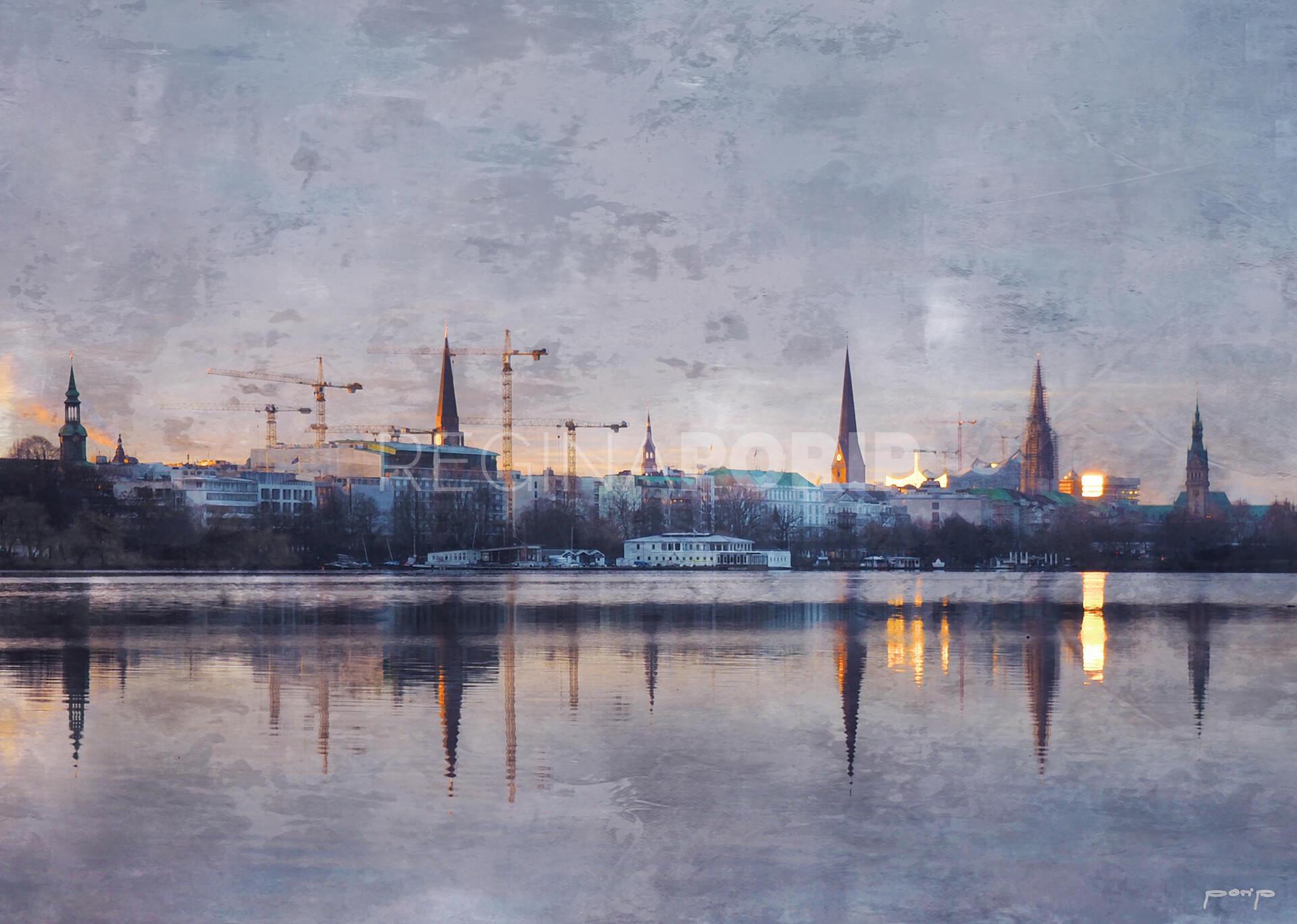 Hamburg Alster 48  –  60 x 40 cm