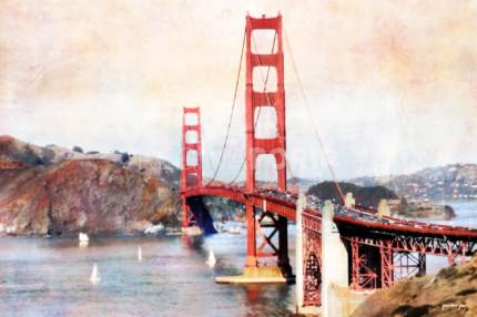 Kalifornien Baybridge 2  –  120 x 80 cm