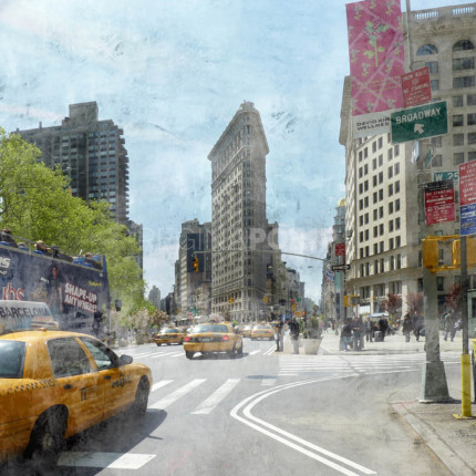 New York City Flatiron 5  –  100 x 100 cm