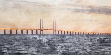 Öresundbrücke  –  120 x 60 cm