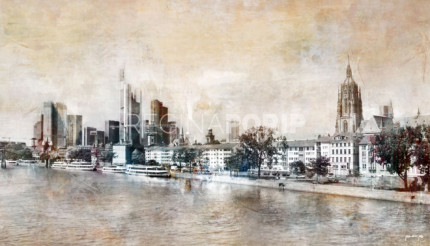 Skyline Frankfurt 2  –  140 x 80 cm