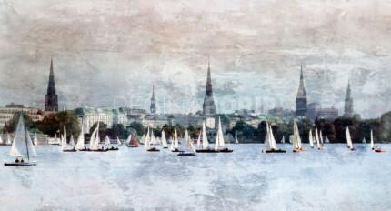Hamburg Alster 16  –  130 x 70 cm