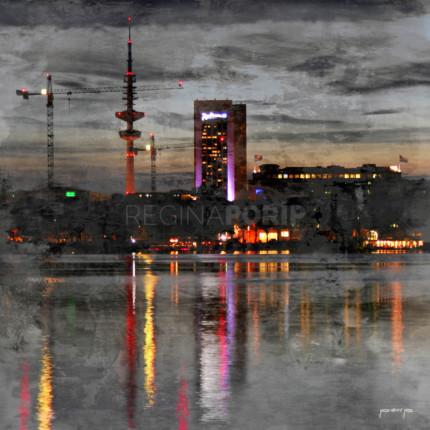 Hamburg Fernsehturm 3  –  50 x 50 cm