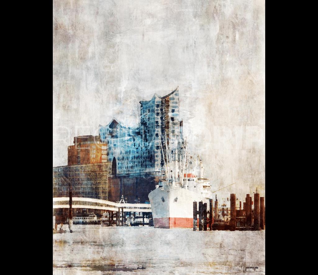 Hamburg Hafen 13  –  100 x 130 cm