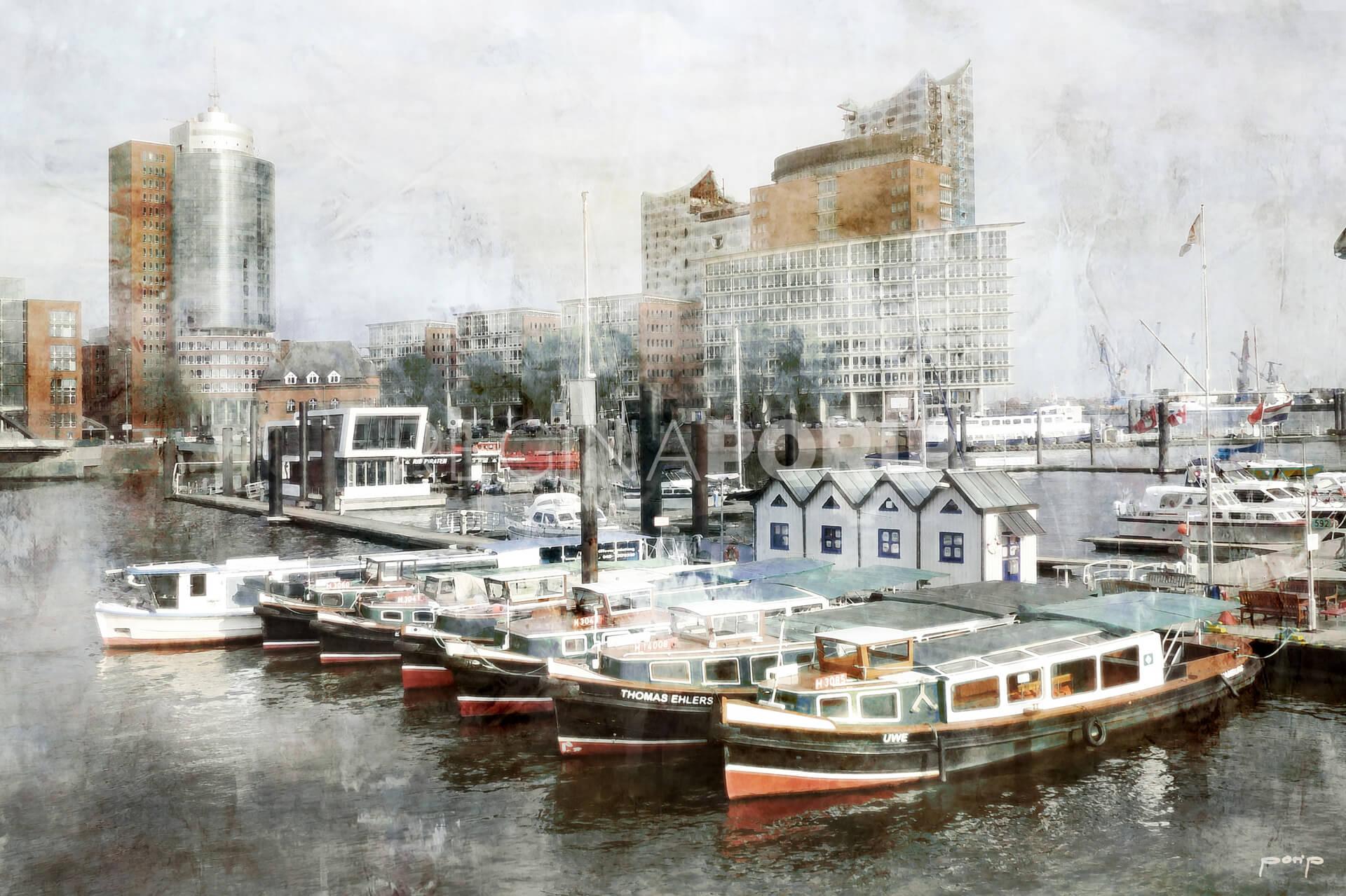 Hamburg Hafen 20  –  120 x 80 cm