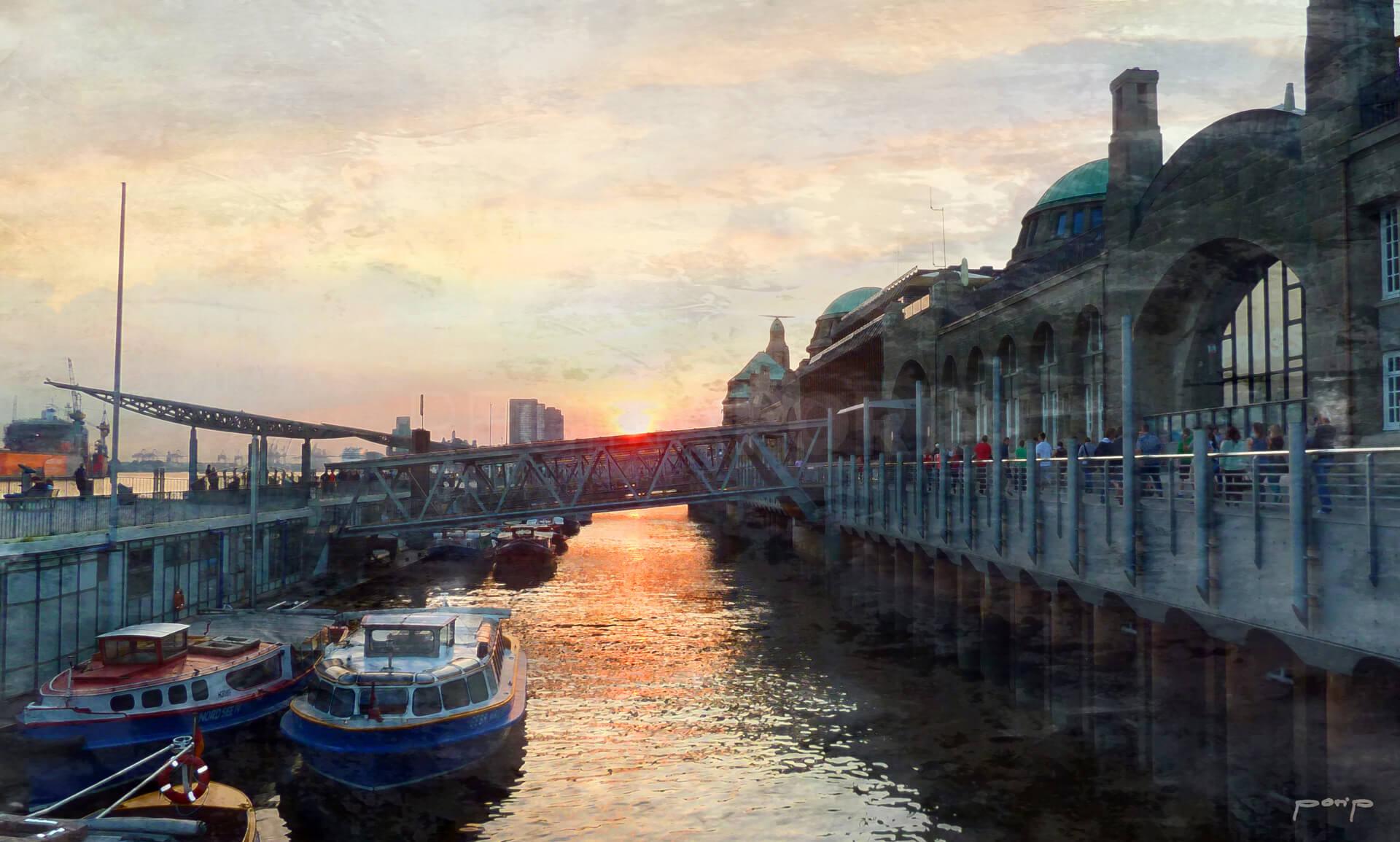 Hamburg Hafen 26a  –  100 x 60 cm