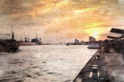 Hamburg Hafen 28  –  120 x 80 cm