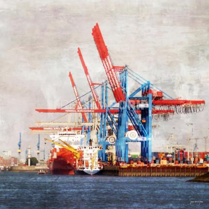 Hamburg Hafen 43  –  80 x 80 cm