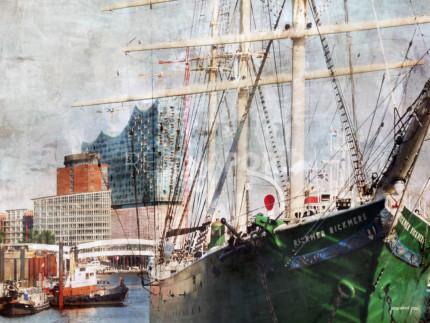 Hafen Hamburg 44  –  80 x 60 cm