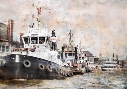 Hamburg Elbschlepper 3  –  100 x 70 cm