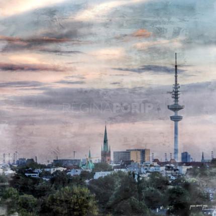 Hamburg Fernsehturm 2  –  70 x 70 cm