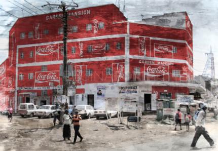 Kenia Nairobi Coco Cola  –  120 x 90 cm