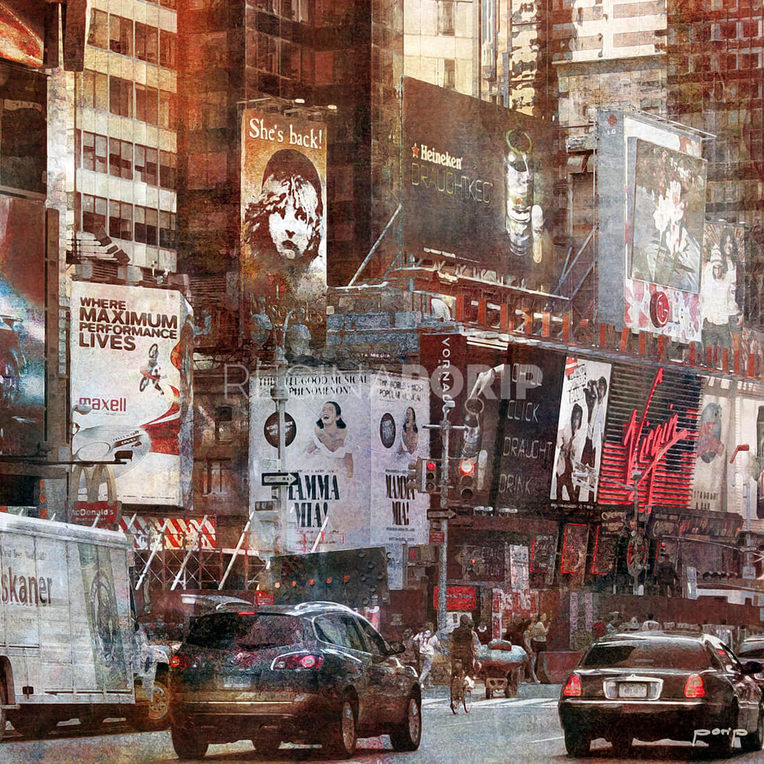 New York City LES MIS  –  50 x 50 cm