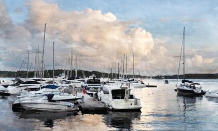 Oslo Hafen 1  –  100 x 60 cm