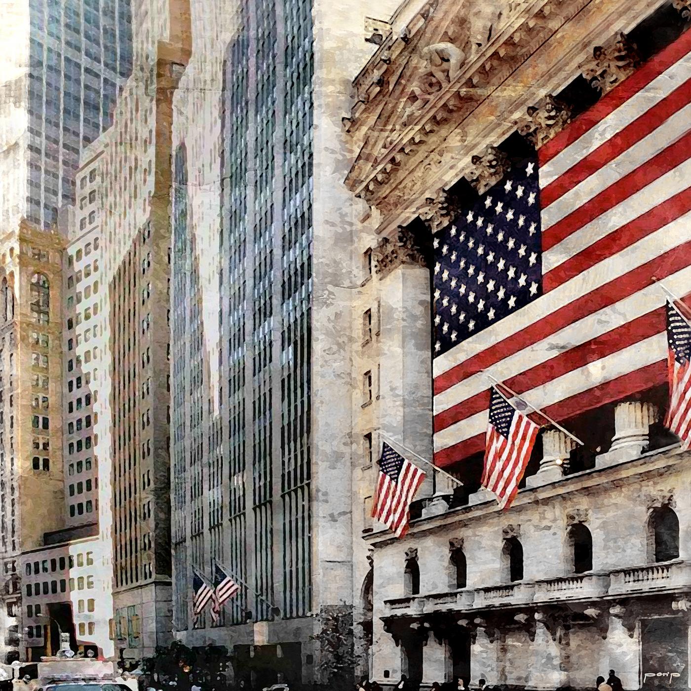 NYC-Wallstreet 3  –  70 x 70 cm