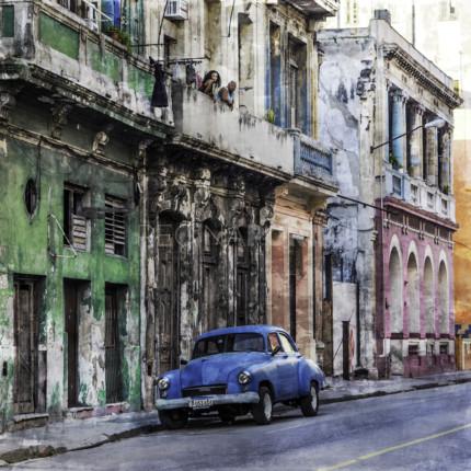 Kuba – Havanna – 16  –  70 x 70 cm – Alu Dibond Plexi