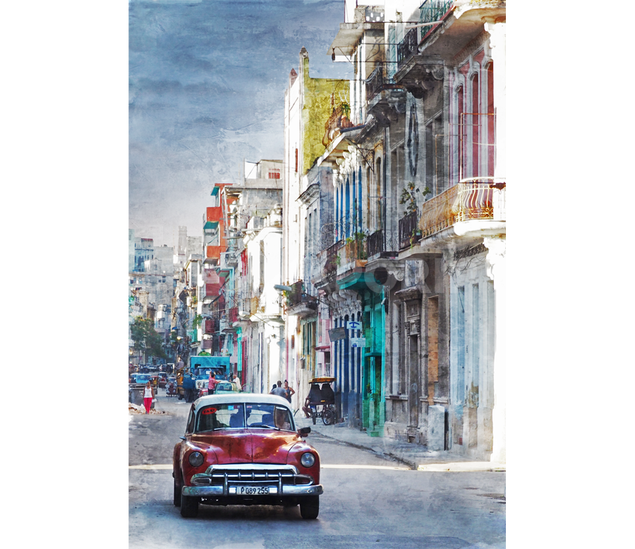 Kuba – Havanna – 17 –  90 x 130 cm – Alu – Dibond – Plexi