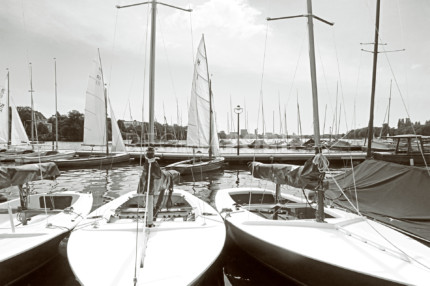Hamburg Alster 14 s/w  –  120 x 80 cm