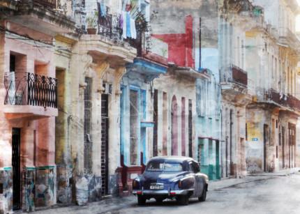 Cuba – Havanna 8 breit  –  70 x 50 cm