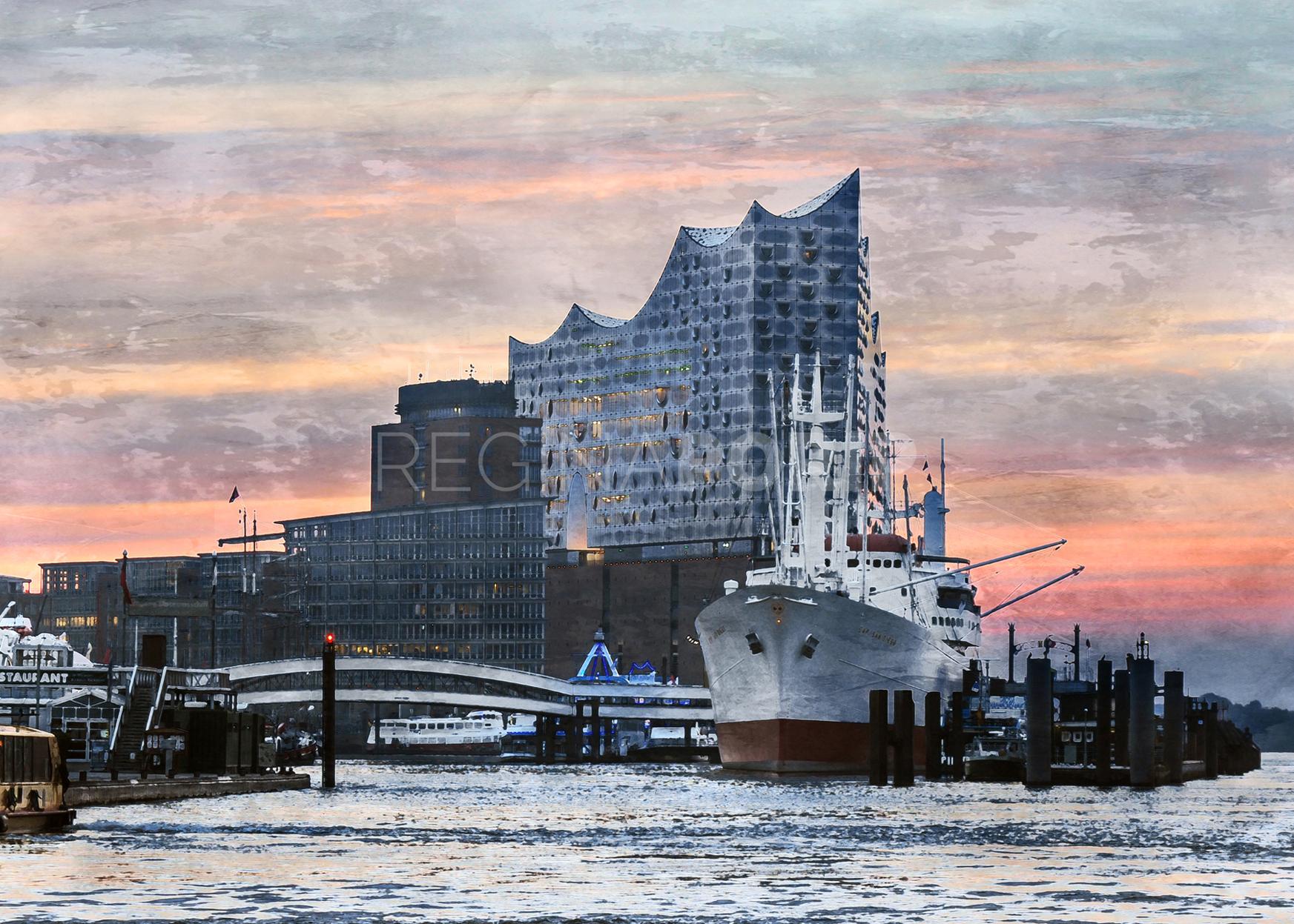 Hamburg Hafen 89  –  80 x 60 cm