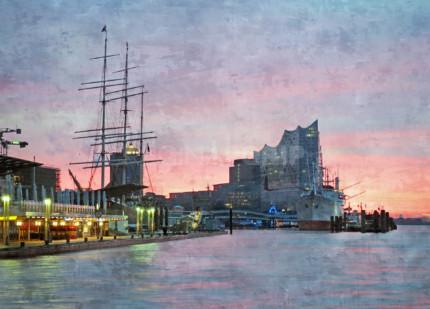 Hamburg Hafen 93  –  70 x 50 cm