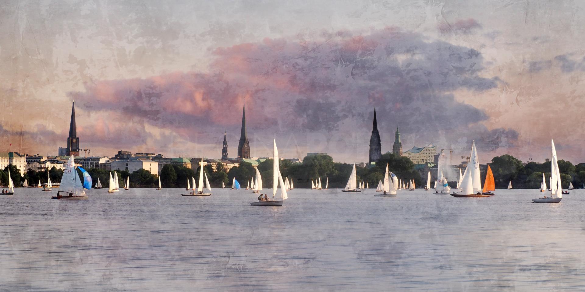 Hamburg Alster 60  –  120 x 60 cm