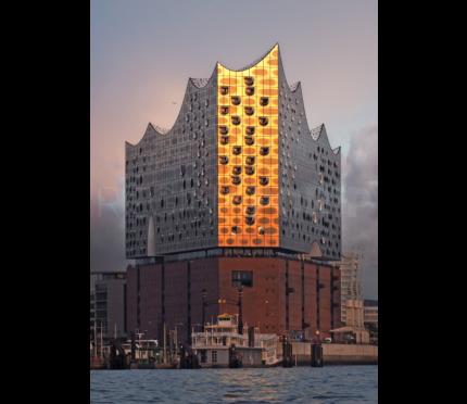 Hamburg Elbphilharmonie  –  42 x 60 cm  – AluDibond