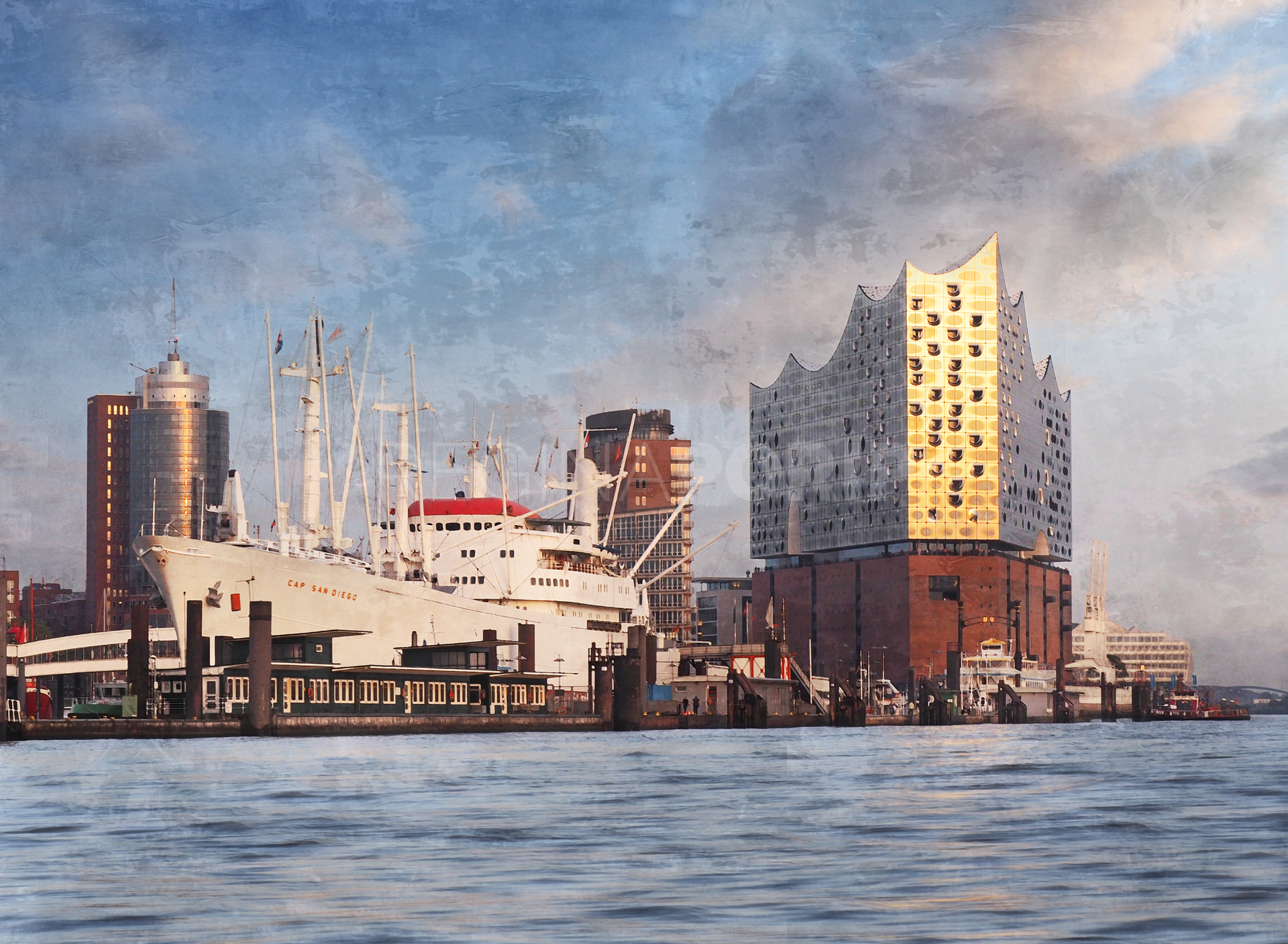 Hamburg Hafen 94  –  55 x 40 cm