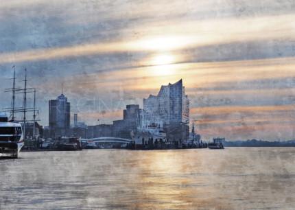 Hamburg Hafen 92  –  80 x 60 cm