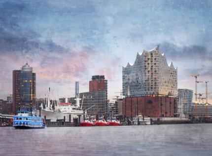 Hamburg Hafen 90  –  80 x 60 cm