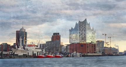 Hamburg Hafen 91  –  120 x 65 cm