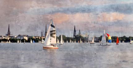 Hamburg Hafen 62  –  120 x 60 cm