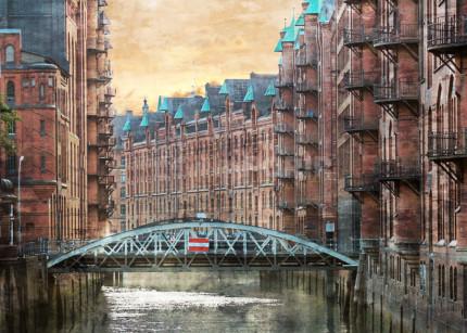 Hamburg Speicherstadt 27 –  80 x 60 cm