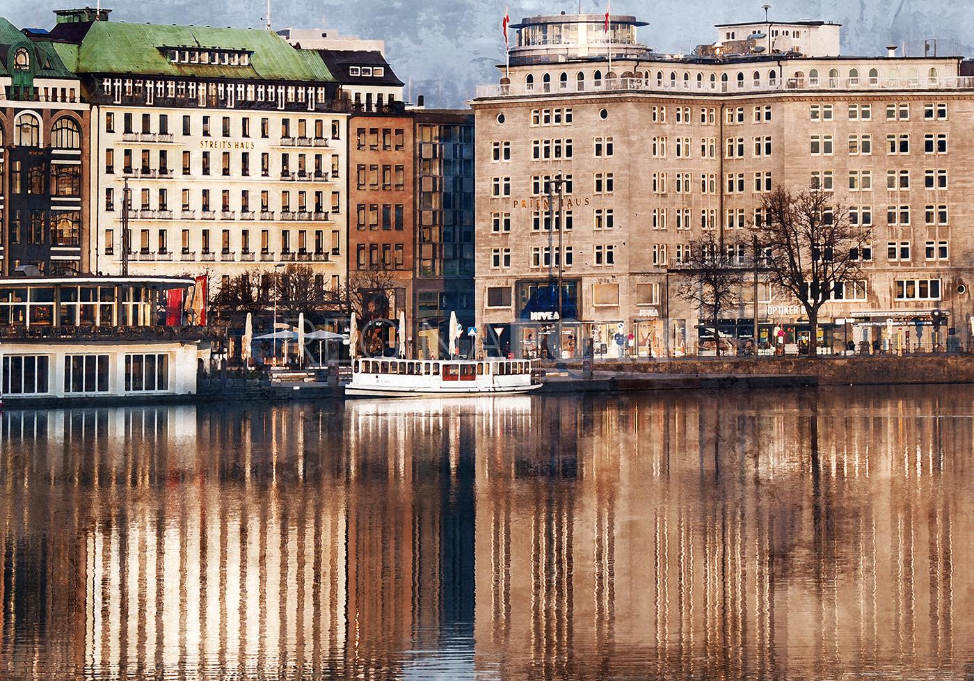 Hamburg Binnenalster 7  –  100 x 70 cm