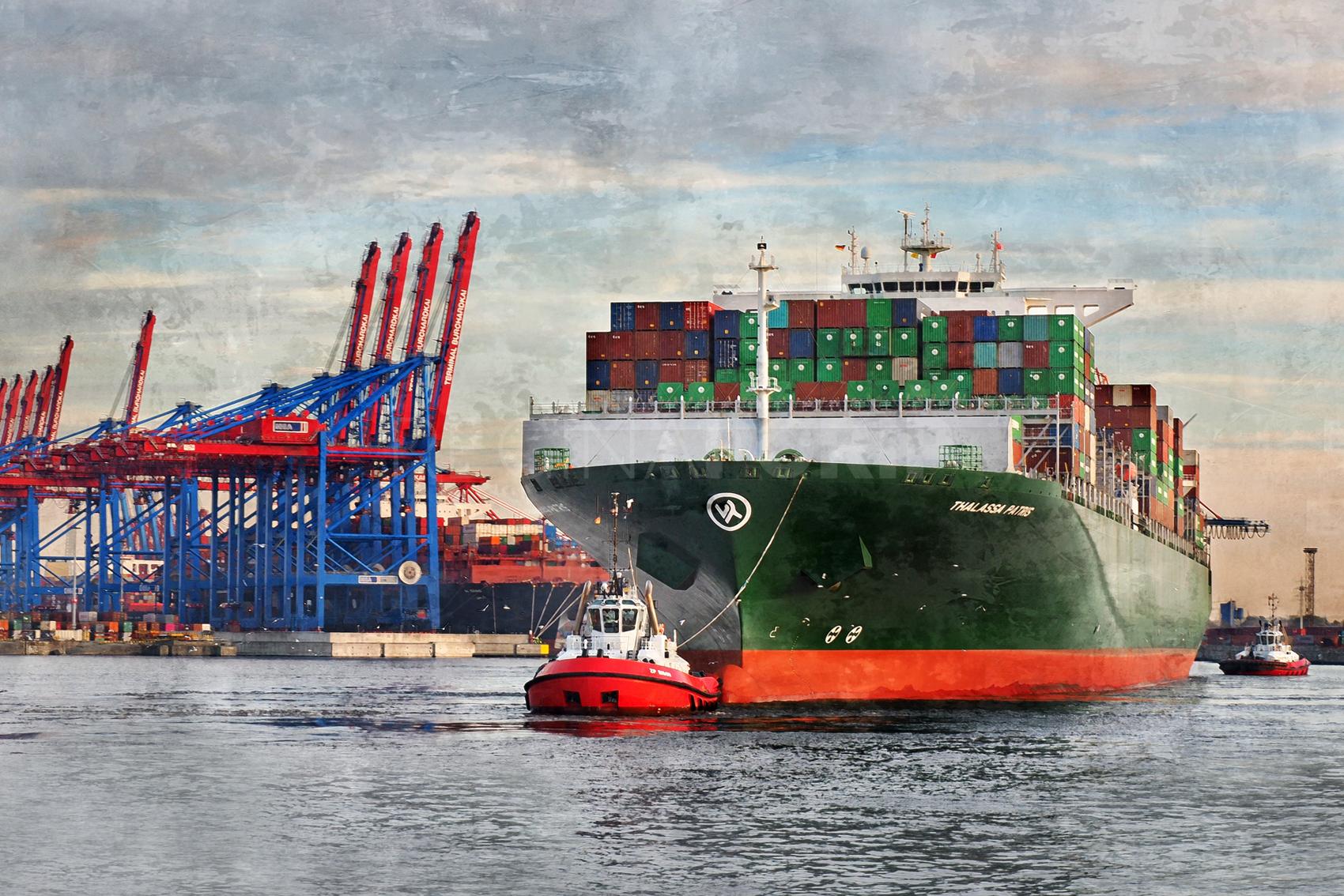 Hamburg Hafen 96  –  120 x 80 cm