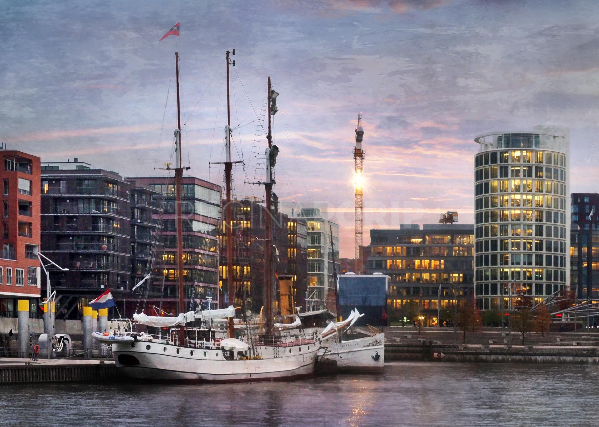 Hamburg Hafen 97  –  100 x 70 cm