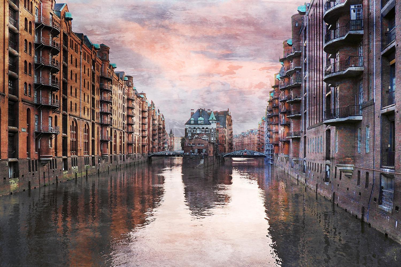 Hamburg Speicherstadt 29  –  120 x 80 cm