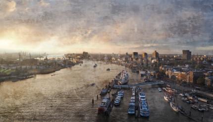 Hamburg Hafen 100  – 70 x 40 cm