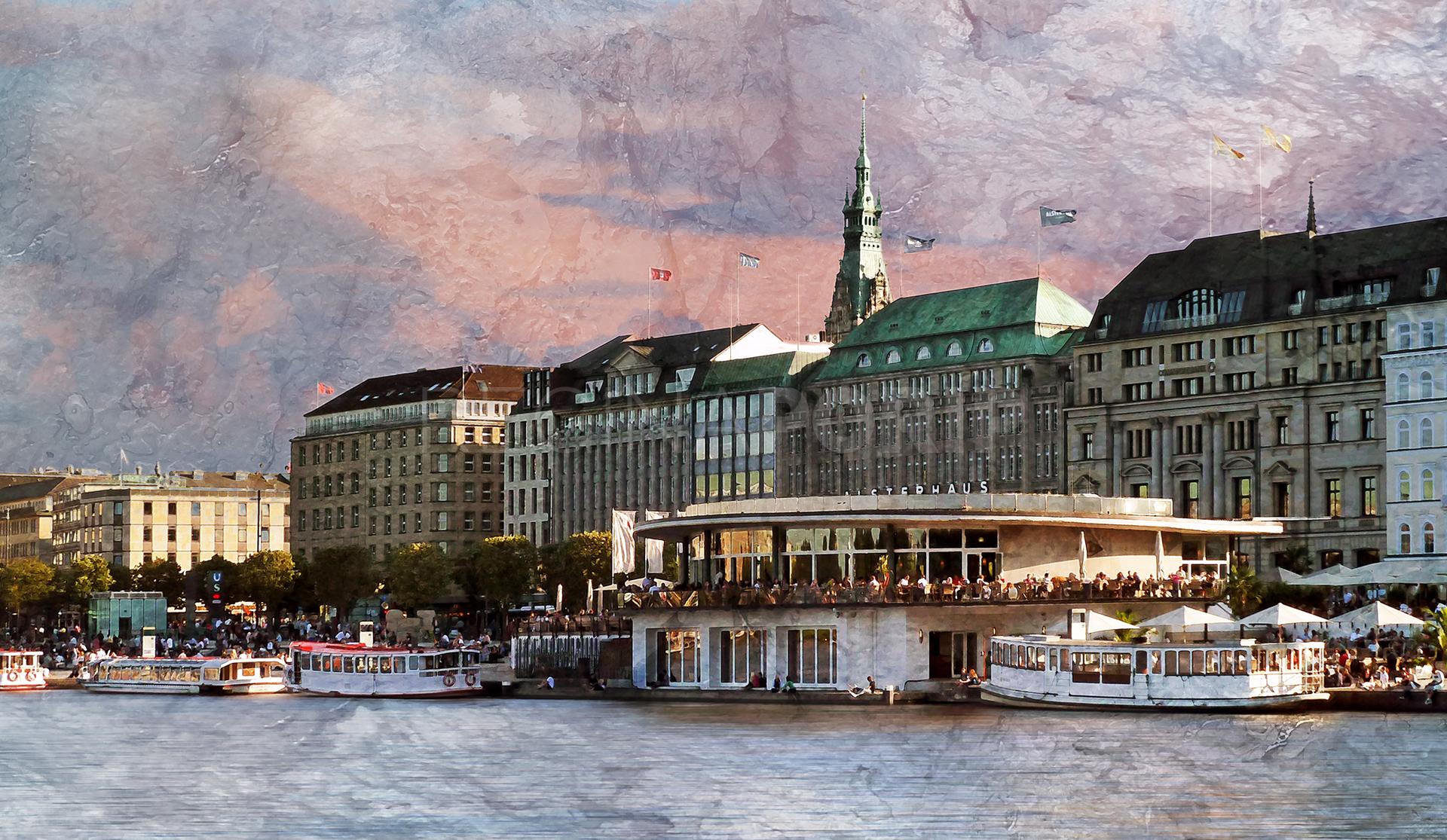 Hamburg Binnenalster 1  –  120 x 70 cm